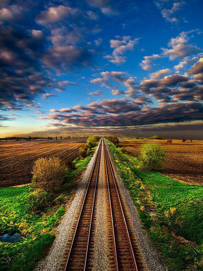 ~~I Will Return ~ train tracks into the horizon, Kenosha, Wisconsin  by Phil Koch~~