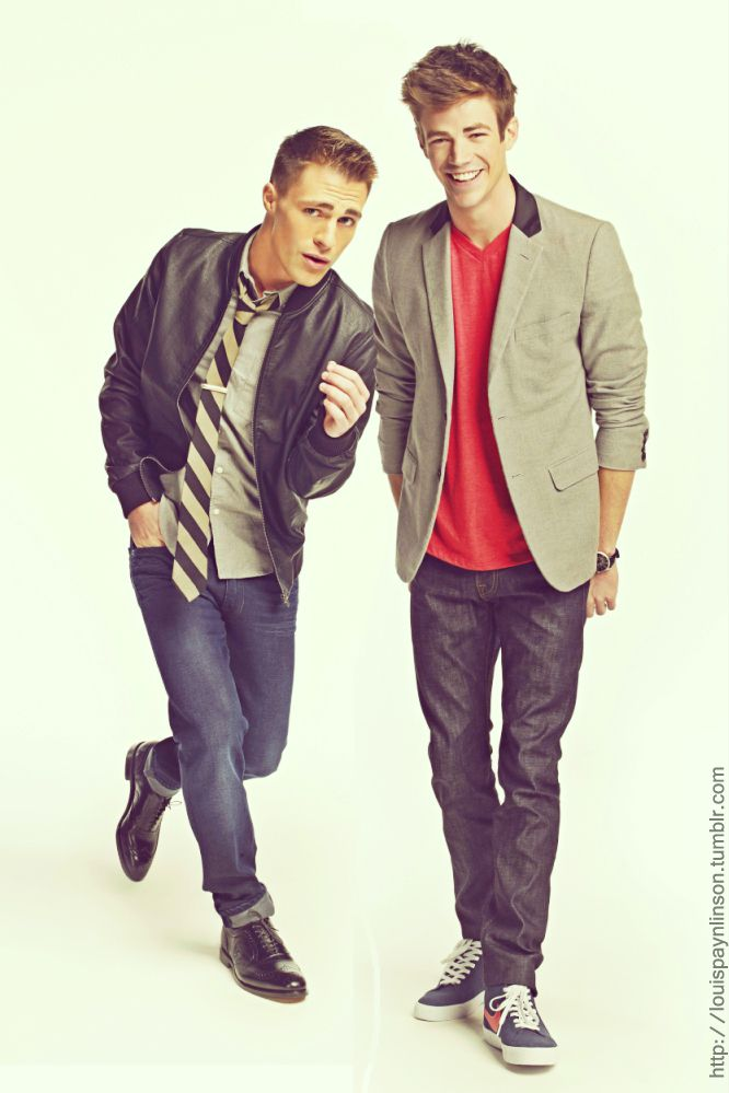 grant gustin and colton haynes There is so much gorgeousness going on in this photo that I almost can't stand it!