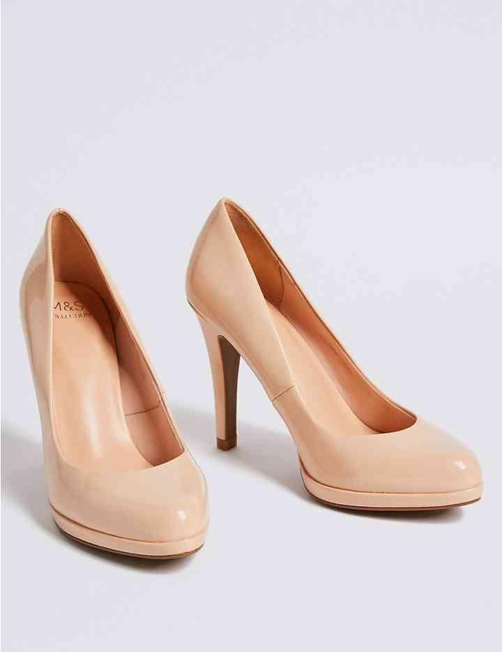 1ad6658a568 Stiletto Heel Platform Skin Tone Court Shoes | Footware | Stiletto ...