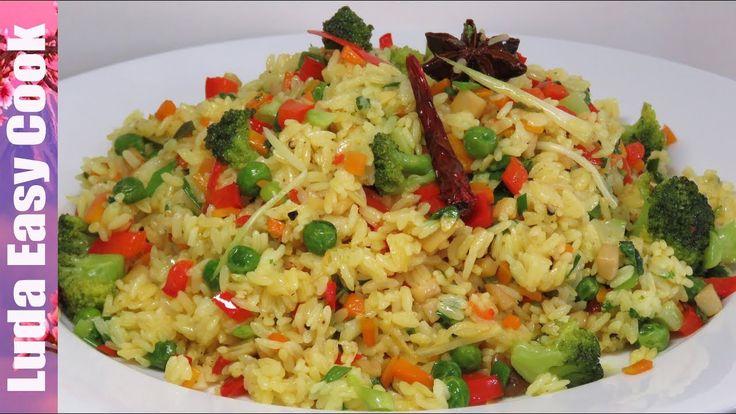 ВКУСНЫЙ ГАРНИР ИЗ РИСА и овощей на сковороде БЫСТРО И ПРОСТО | VEGAN FRIED RICE recipe - YouTube
