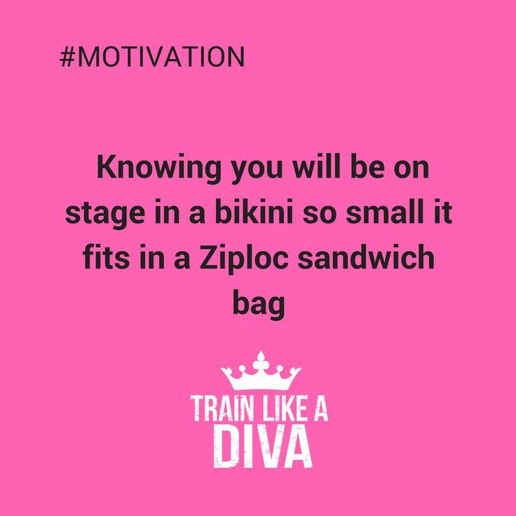 Bikini competition motivation.