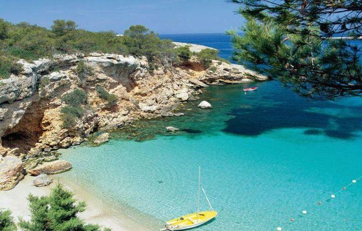 Beach cove at Rota, Spain