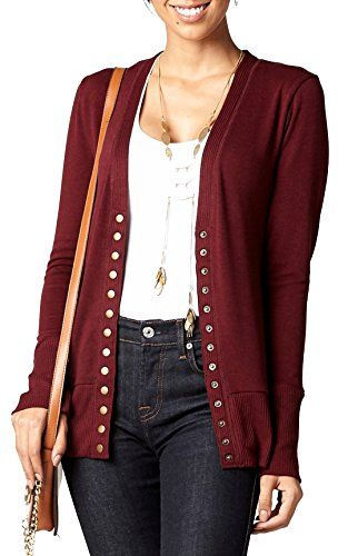 87b01e11ec New Conceited Women's Cardigan V-Neck Snap Button Down Soft Knit Long Sleeve  Sweater online. [$19.95] weloveoffer Fashion is a popular style