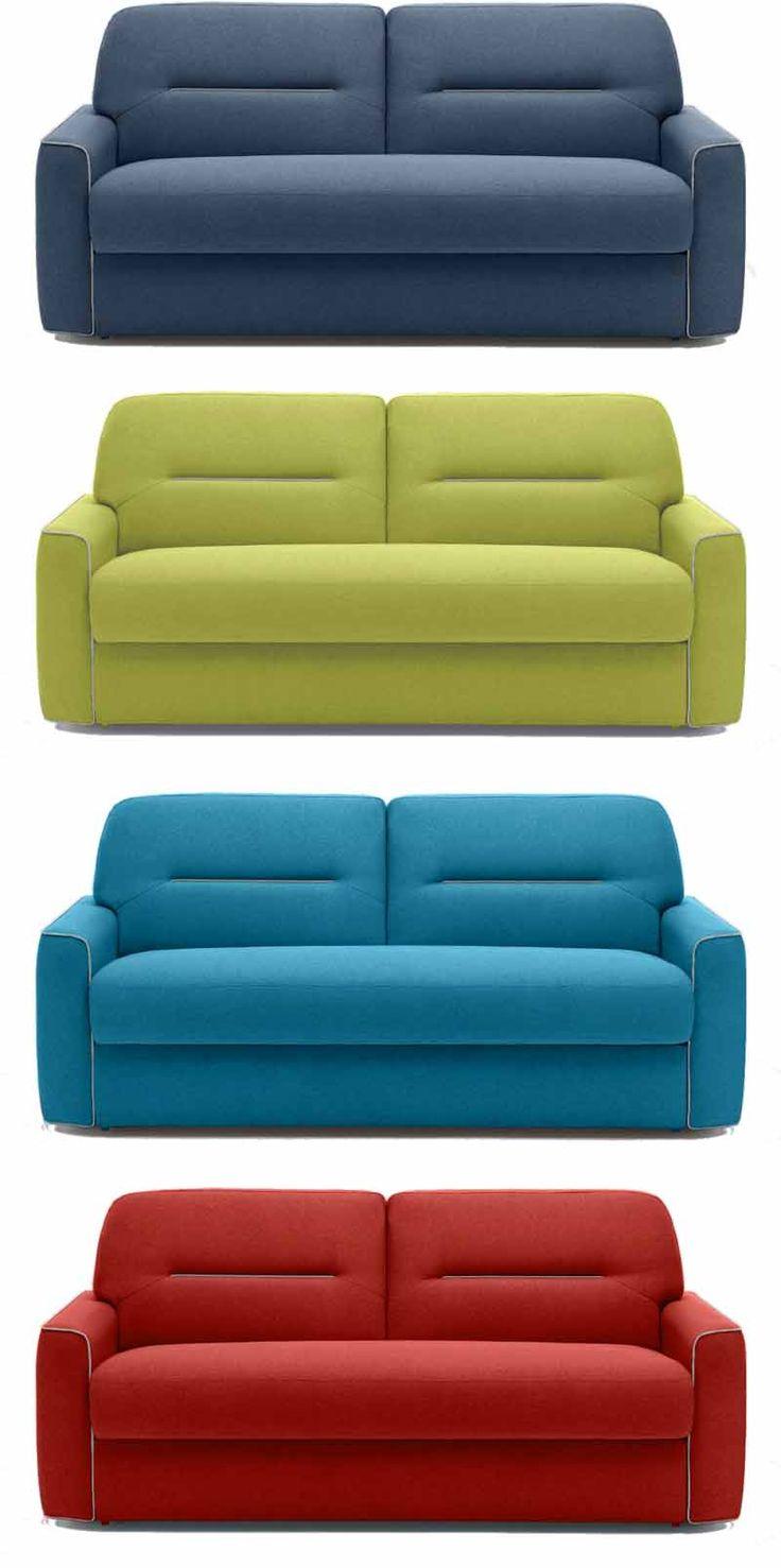 divano letto con materasso francese 140 cm in tessuto