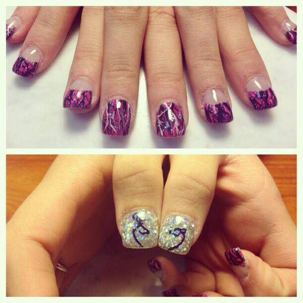 Muddy girl camo acrylic nails.