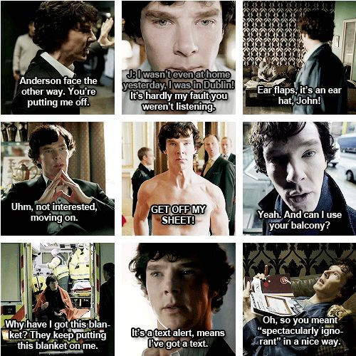 So sassy, Sherlock. :)Sherred Locks, Sherlock Quotes, Bbc Sherlock, Funny Quotes, Sassy Sherlock, Sherlock Holmes, Benedict Cumberbatch, Greatest Quotes, Best Quotes