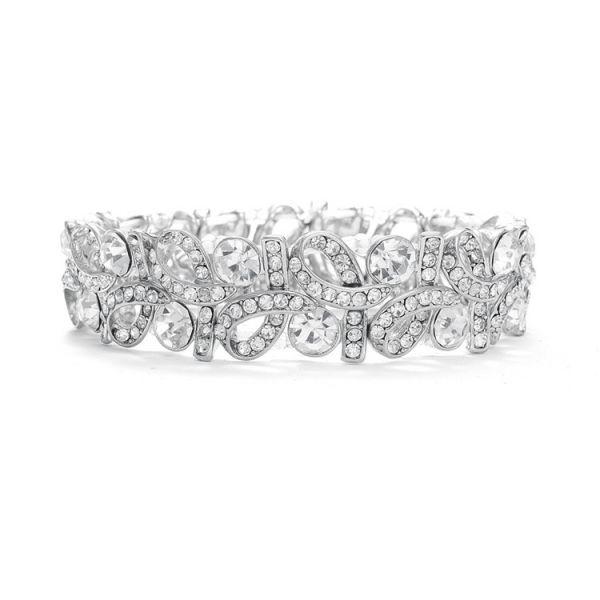 Parisian Bridal Bracelet: Sparkling Crystal Event Bracelet   www.glamadonnashop.com.au