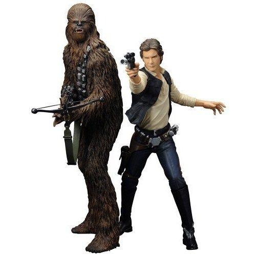 "Kotobukiya 1:10 Scale ""Han Solo and Chewbacca"" Artfx Plus Statue (Brown)"