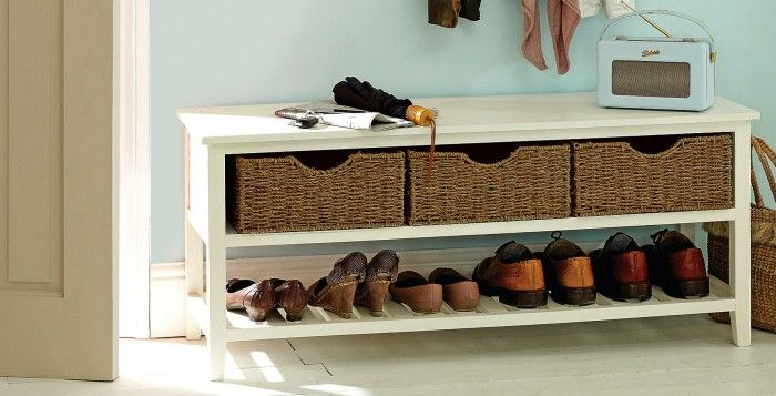 Hallway Storage Ideas - great for taking a messy hallway and getting it ship shape.