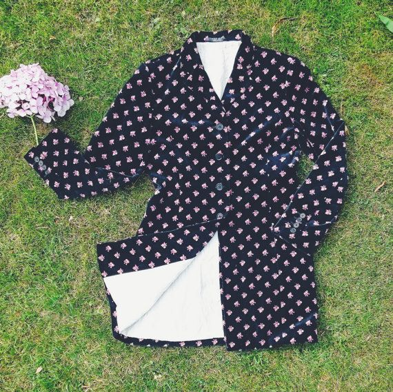 VINTAGE | Vintage Laura Ashley Floral Velvet Coat |   Available from Deer and Fawn Etsy Shop https://www.etsy.com/uk/listing/473563407/vintage-laura-ashley-floral-velvet-coat