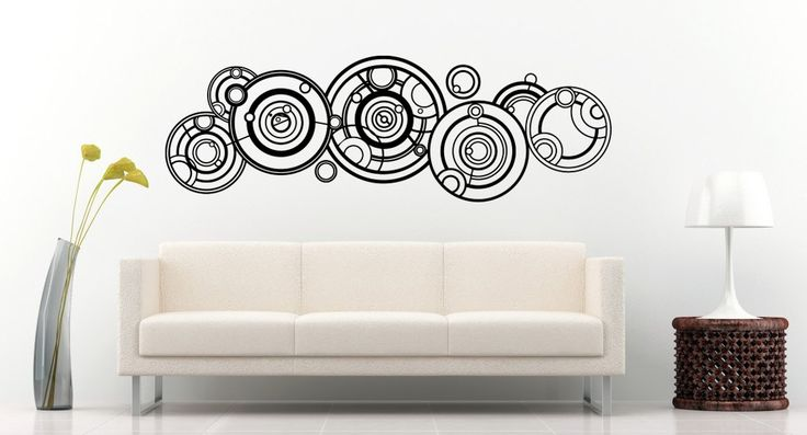 New Doctor Who Gallifreyan Name Wall Decal Black Wall Stickers Large 140cm X 46cm