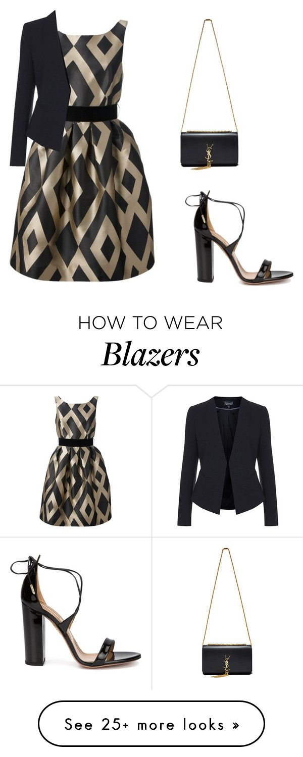"""""""Untitled #1369"""" by carlene-lindsay on Polyvore featuring P.A.R.O.S.H., Topshop, Aquazzura and Yves Saint Laurent"""