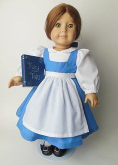 Belle Disney Princess American Girl doll dress | ... Disney Princess Belle from Beauty and the Beast American Girl Doll