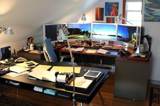 Five Monitor Workstation!