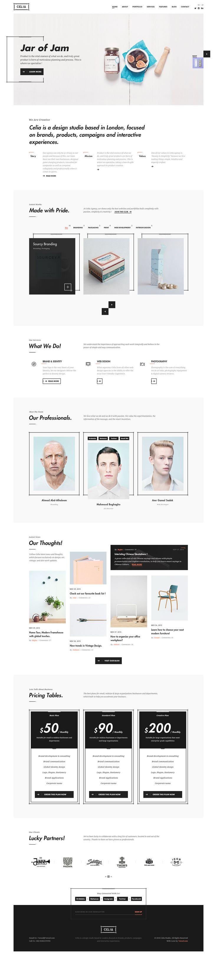 Behance :: Celia - Creative PSD Template by Mahmoud Baghagho
