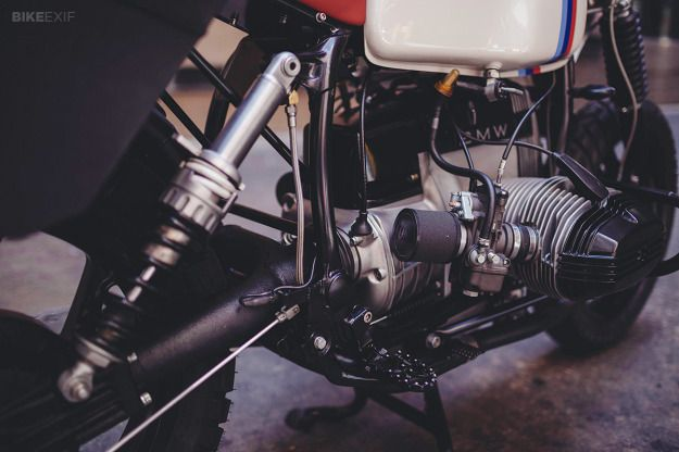 Max Hazan and The Mighty Motor joined forces to transform a 1991 BMW R100 into the Scrambler that could have been.
