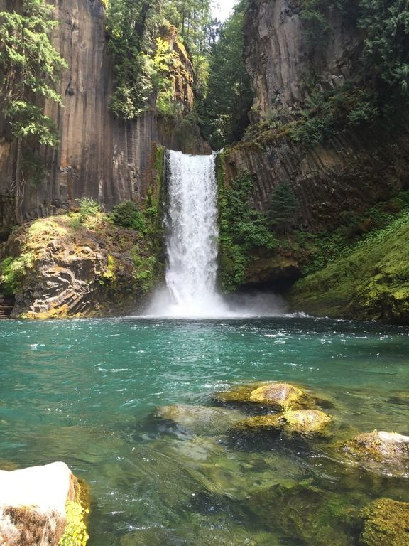 Toketee Falls, Oregon, USA (1334x750) [OC] : EarthPorn