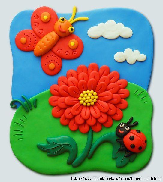 картины из пластилина для детей - Поиск в Google