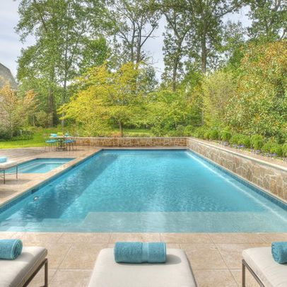 20 best images about swimming pools on pinterest for Pool design retaining wall