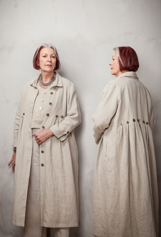 Summer Button Coat in natural linen £395 (shown over Dublin Waistcoat and New Width Trousers).