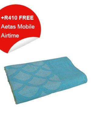 Beach Towel (Blue & Green Pattern)