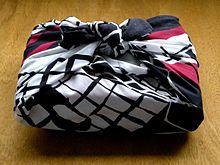 Furoshiki - japanese cloth gift wrapping on Wikipedia, the free encyclopedia
