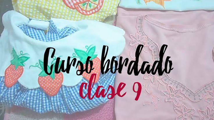 CURSO BORDADO CON MAQUINA DE COSER. | CLASE 9.