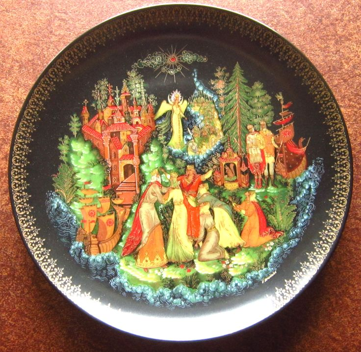 """Tsar Sultan - Russian Legends Bradford Exchange  This is the Sixth piece in the Russian Legends Series  Bradex No. 60-V25-1.6  Design by Galina Alekseevna Zhirakova    7 3/4"""" (19.65cm)   Plates can be bought individually or as a set 1-7 for a reduced price (%)."""