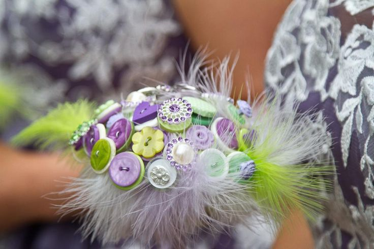 A lovely bouquet in lime and heather - your colour choice can be as specific as you like :-)