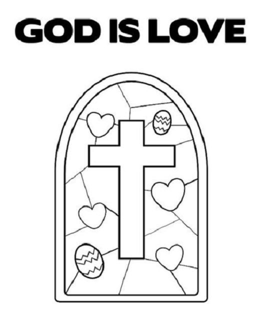 god is love coloring pages free