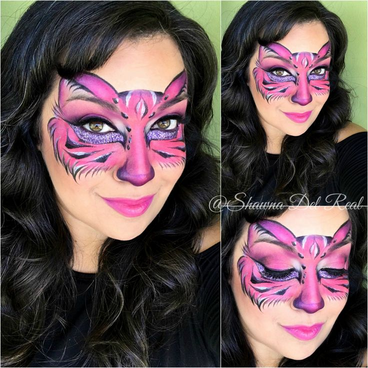 pink+kitty+mask+face+paint+by+shawna+Del+Real.jpg (1600×1600)
