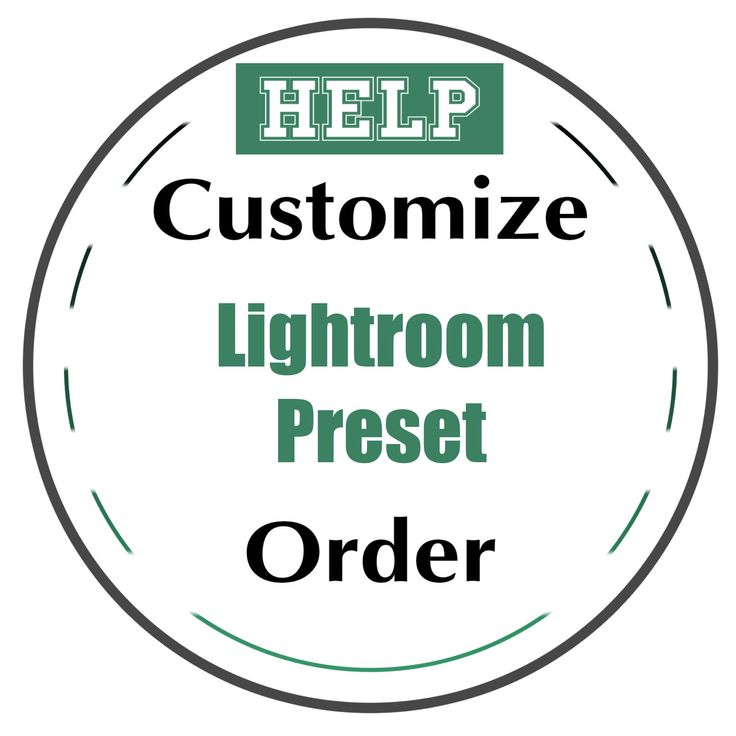 Customize Lightroom Preset order. Made Professional Photo Editing: Portraits, Newborns, Weddings Order - Personalize Template. by CameraClick on Etsy