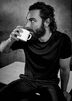 Outtakes of Aidan Turner's shoot with Glamour UK.