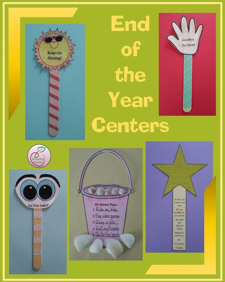 End of the Year Centers | Center Ideas | Creative teaching