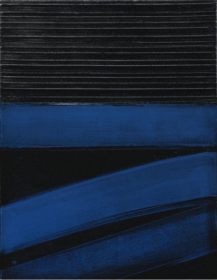 Peinture 81 x 63 cm, 24 janvier 1997, 1997 by Pierre Soulages