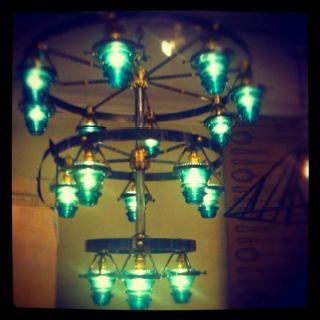 Telegraph insulator chandelier from @CAKEvintage #laylagrayce #hpmkt #lgtrend #lighting: Cakevintag Laylagrayc, Cakes Vintage
