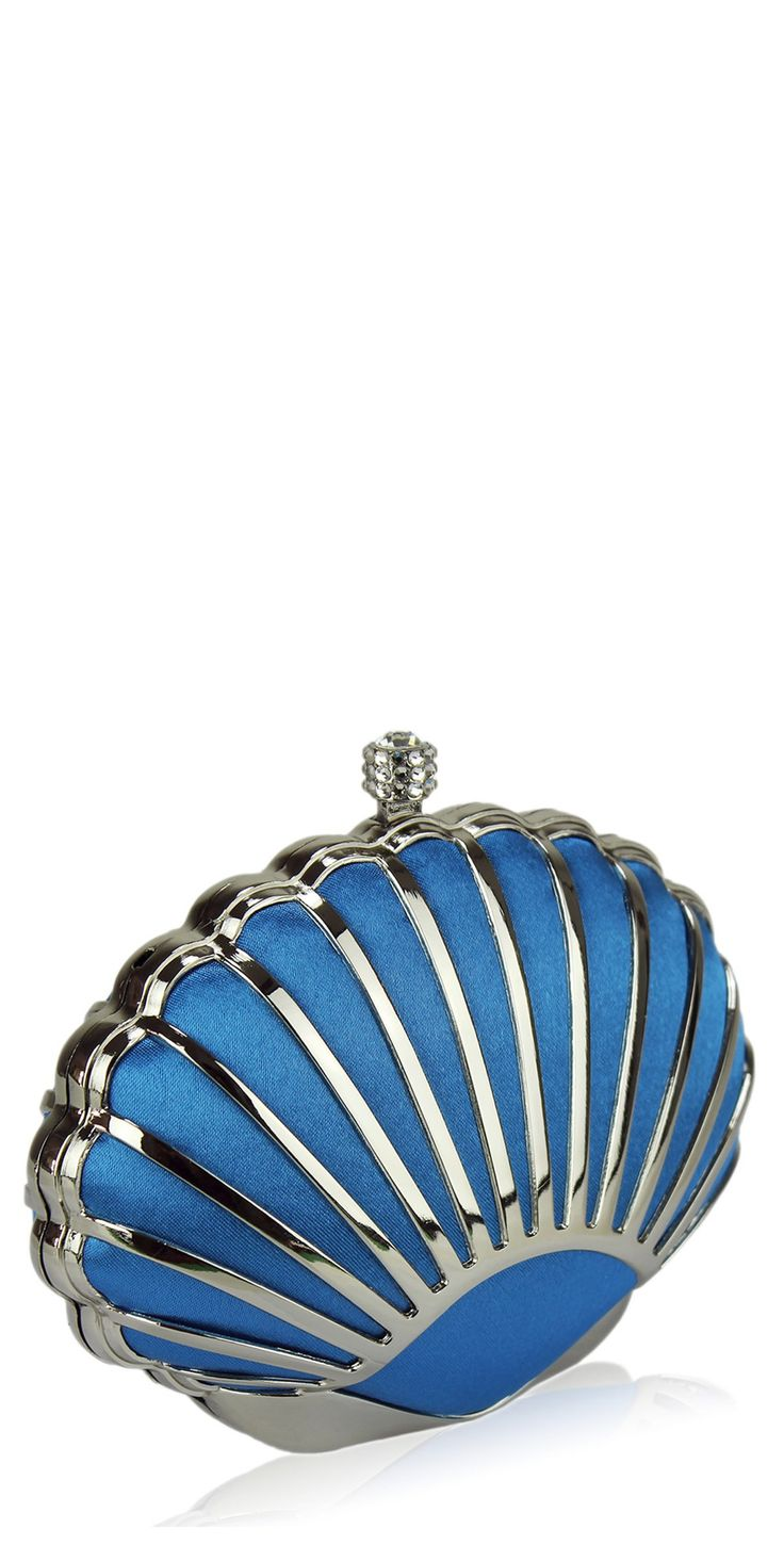 'The Fan' Blue vintage inspired 1930s style art deco shell clutch bag – Vintage HandbagsFelecia Weidner