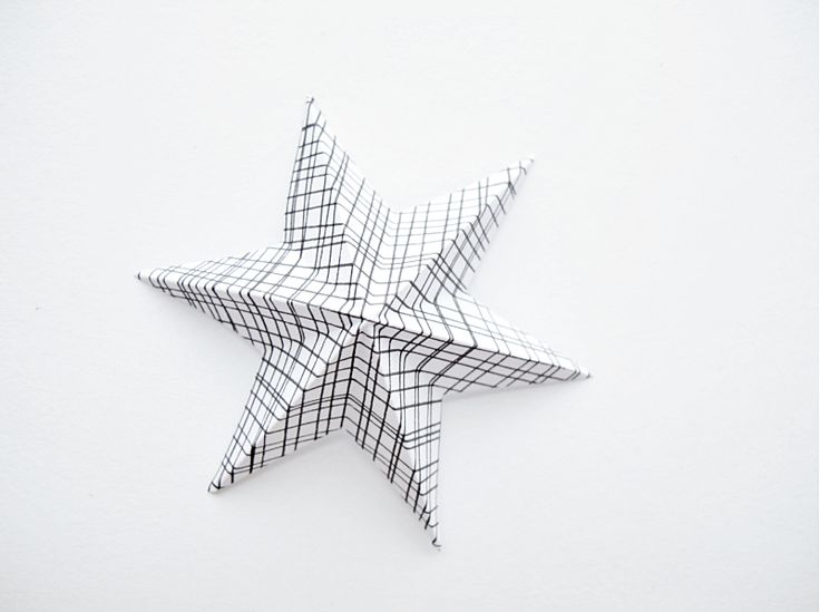 Tutorial for a 3-D paper star.  Maybe add a hanger for a tree ornament?