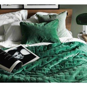 Emerald Green Luxury Throw   New At The French Bedroom Company