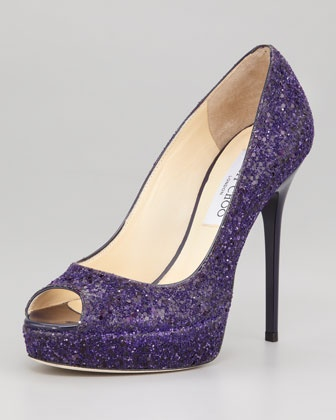 Crown Glittered Pump by Jimmy Choo at Neiman Marcus.