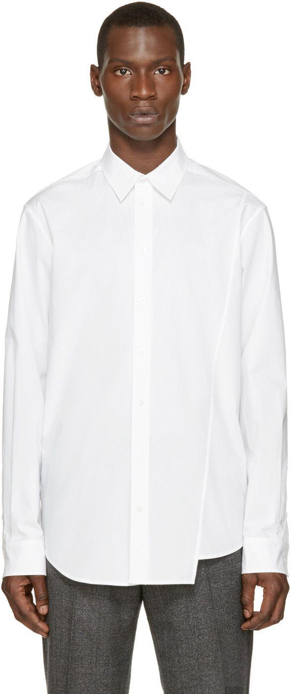 3.1 PHILLIP LIM White Classic Poplin Shirt. #3.1philliplim #cloth #shirt