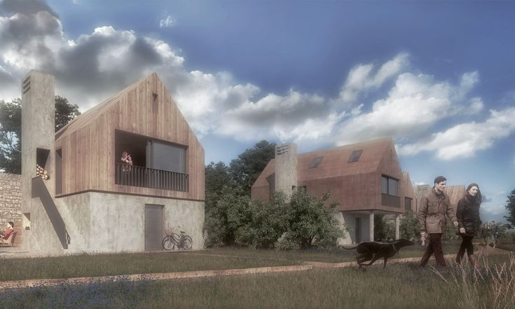 Hesleyside Wlled Gardens Render for accommodation - concept is to reimagine a Bastle House and create a series of Battle Lodges.  #hesleyside #northumberland #architecture #bastlehouses