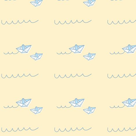 Paper Boats for Baby  fabric by anda on Spoonflower - custom fabric
