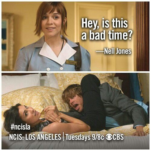 NCIS: Los Angeles. This scene was the funniest scene ever.
