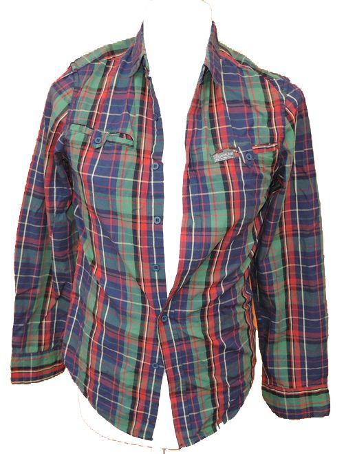 BRUMLA.CZ – Značkový dětský a dospělý second hand a outlet, použité oděvy pro děti a dospělé - Pánská kostkovaná košile zn. Cedarwood state vel. S