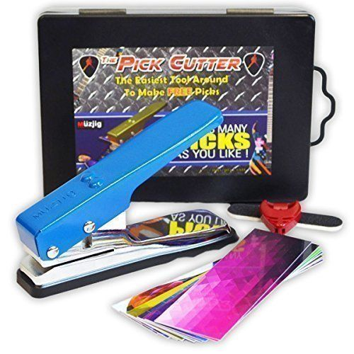 The Pick Cutter by MUZJIG - STARTER PACK - 1x Electric Blue Pick Maker - 10x Pick Strips - 1x Pick Holder - 1x File Board - Hard Gift Case - Cut Guitar Plectrum Picks Easily 100% Fun and Safe. by Muzjig via https://www.bittopper.com/item/the-pick-cutter-by-muzjig-starter-pack-1x-electric-blue/