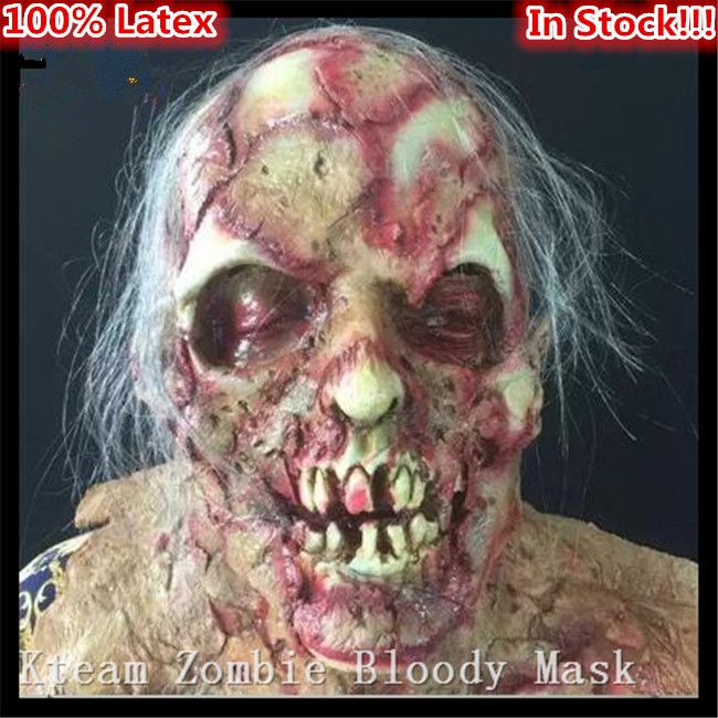 ==> [Free Shipping] Buy Best Top Grade Popular Newest Halloween Zombie Ghost Devil Horror Mask Rubber Halloween Zombie Mask Scary Ghost masks Free shipping Online with LOWEST Price | 32710546510