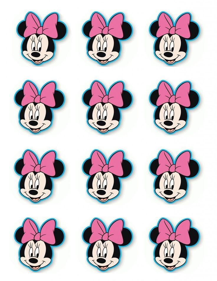 Magnificent Mini Mouse Cupcake Toppers Design Options Com Imagens Tubete Funny Birthday Cards Online Necthendildamsfinfo