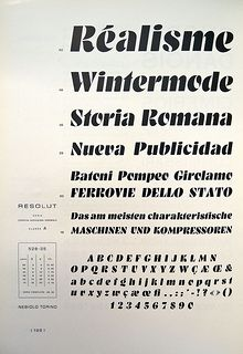 Nebiolo - Resolut | Designed by H. Brünnel, 1937. I know not… | Flickr - Photo Sharing!
