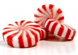 peppermint candies in jars